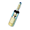 Channel Vision Banana plug - gold plated (Black Ring)
