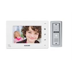 Kocom 2 Wire Video Door Intercom Kit With 7 Inch Display (White)