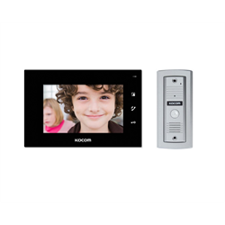 Kocom 2 Wire Video Door Intercom Kit With 7 Inch Display Black