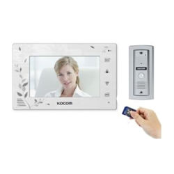 "Kocom Video Intercom With SD Recorder White 7"" Colour LCD"