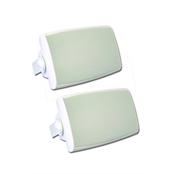 "Channel Vision Outdoor Waterproof Speakers Pair 5.25"" Woofer White"