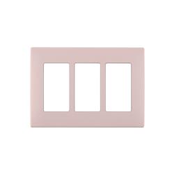 Leviton Renu 3 Gang Plastic Wallplate Pink Lemonade