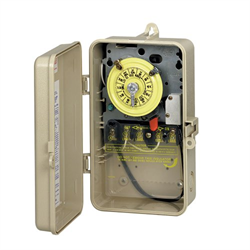 Intermatic Indoor/Outdoor Mechanical Timer Plastic Case 120V With Heater Cutoff
