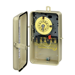 Intermatic Mechanical Timer Steel Case 120V With Heater Cutoff