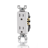 Leviton Decora Tamper Resistant Receptacle 120V 15A White