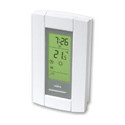 Aube Programmable Thermostat Floor/Ambient 120/240V Double Pole GFCI