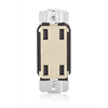 Leviton Decora 4 Port Wire-In Smart USB Charger, Light Almond