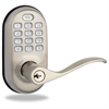 Yale ZWave Push Button Lever Satin Nickel