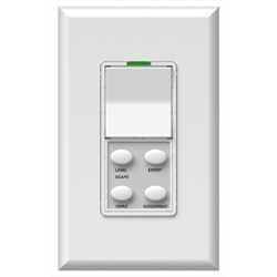 Simply Automated Face Plate 1 Rocker 4 Button Oval Bar, White