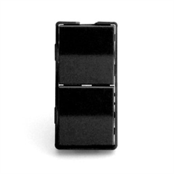 Simply Automated Face Plate Dual Rocker Half Height Black