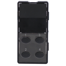 Simply Automated Face Plate 1 Rocker 4 Button Oval Bar - Black