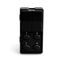Simply Automated Face Plate 2 Rocker 4 Button Oval Black
