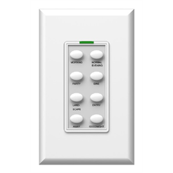 Simply Automated Face Plate 8 Button Oval White