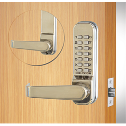 Codelocks Tubular Latchbolt with Code Free Entry Function Stainless Steel