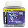 Additional images for Platinum Tools EZ-RJ45 Cat6+ Connector, Jar of 100