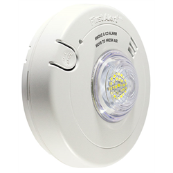 BRK 120V Combination Smoke + Carbon Monoxide Alarm with LED Strobe,10 YR Battery