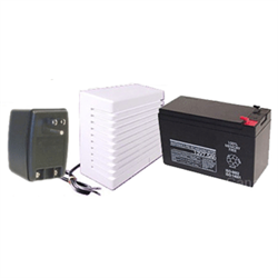 Alarm Hardware Kit, RJSET, 12V4AH Battery, Surface Mount Siren, Power Supply