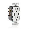 Leviton Receptacle with Type A and C USB Charging,125V15A,Tamper Resistant,White