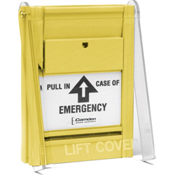 Camden Pull Station, Pull Pull In Case Of Emergency, Yellow, 2 x NC
