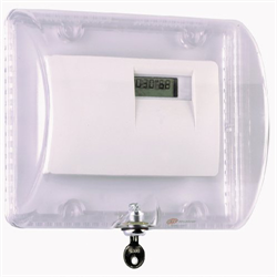 STI Large Thermostat Protector with Key Lock, Clear