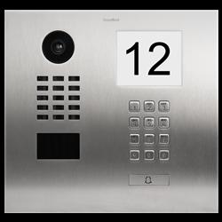 DoorBird IP Video Door Station, 1 Call Button, Keypad, Stainless, Info Panel