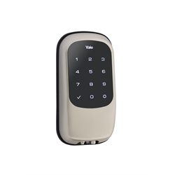 Yale Key Free Zwave Touch Screen Satin Nickel