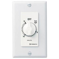 Intermatic Decorator Spring Wound Countdown Timer, 15 Min,125-277VAC SPST, White