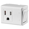 Leviton 15 Amp, 125V AC 3-Wire Switch Tap With On/Off Button, White