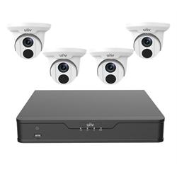 Uniview IP Camera Bundle, 4 Channel NVR 1TB, 4 x 4MP Turrets*