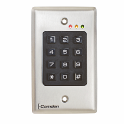 Camden Stand Alone and Wiegand Access Control Keypad, Flush Mount