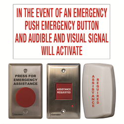 Camden Universal Emergency Call Kit with Button, Sounder, LED Dome Light, Sign