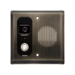 Logenex Teleport Flush Mount IP Video Door Station, Antique Nickel