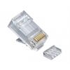 Platinum Tools RJ45 (8P8C), Cat6 2 pc Round-Solid 3 Prong, with Liner, 25 pcs