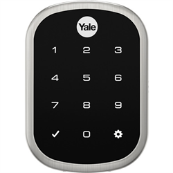 Yale Assure Lock SL Key Free Connected by August, DoorSense,Connect,Satin Nickel