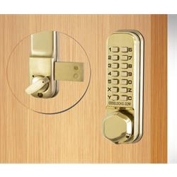 Codelocks Surface Deadbolt Polished Brass