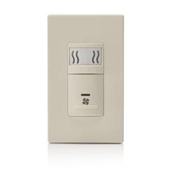 Leviton Humidity Sensing Fan Control Switch, Light Almond