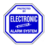 Security System Warning Decal Protected By Electronic Alarm System, 4 Inch