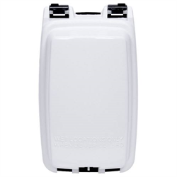 Intermatic Single Gang Vertical In Use Weatherproof Receptacle Cover, White