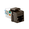 Leviton Home 6 Quickport Cat 6 Connector, T568A, Brown
