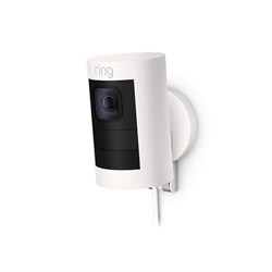 Ring Indoor Outdoor Wired Stick Up Cam, White