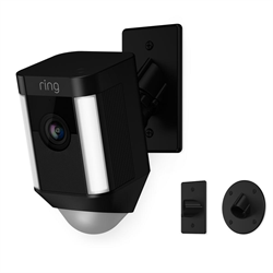 Ring Spotlight Wired Cam With Mount, Black