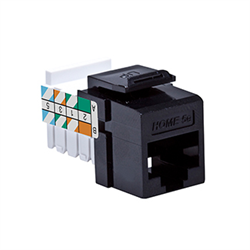 Leviton Home 6 Quickport Cat 6 Connector, T568A, Black