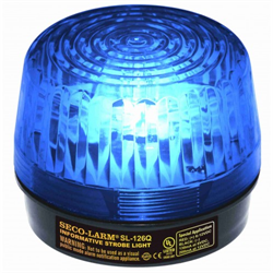 SecoLarm Blue Security Strobe Light 6-12VDC