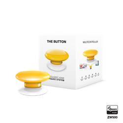 Fibaro The Button Zwave Battery Powered Device and Scene Control Button, Yellow