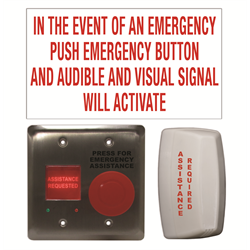 Camden Universal Emergency Call System Kit, Double Gang For Universal Restroom