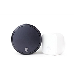 August Smart Lock Pro With Zwave And Connect Bundle Dark Gray