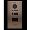 DoorBird Flush Mount IP Video Door Station, 1 Call Button, Bronze-Finish