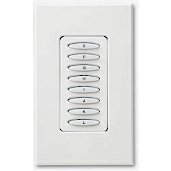 PCS PulseWorx UPB Keypad Controller, Dimmer, 8 Button, 400W White (Clearance)