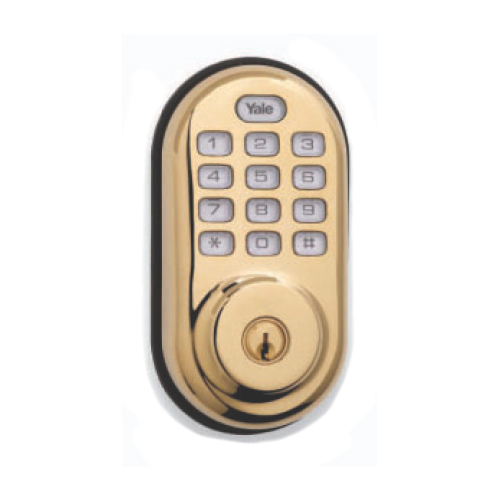Yrld210zw605kwkd Yale Z Wave Push Button Deadbolt Bright