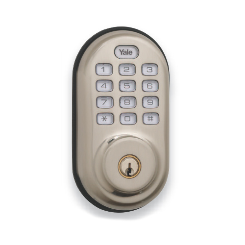 Yrld210zw619kwkd Yale Z Wave Push Button Deadbolt Satin